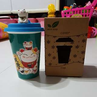 Eco Cup Lucky Cat