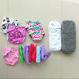 BUNDLE CLOTH DIAPER BABY STARTER KIT CUTE INSERTS REUSABLE