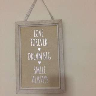 Rustic quote wall hanging