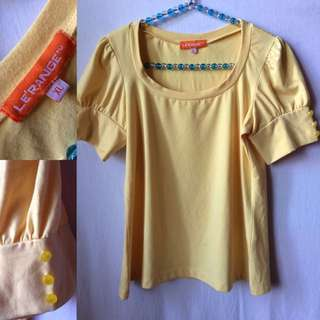 Body hugging blouse (preloved)   Bought in Singapore   Size: XL on tag but size is more for M-L
