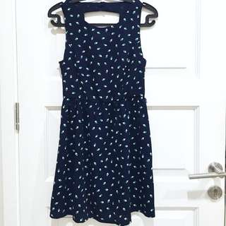 PRELOVED FOREVER21 Navy Geometrical Summer Dress
