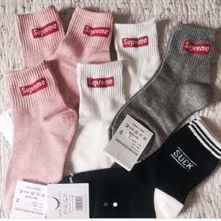 RESTOCK! Supreme mid socks! 🌸