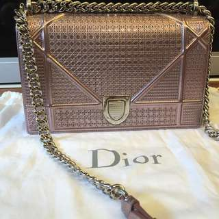 Dior Microcannage Medium in Pink with SHW