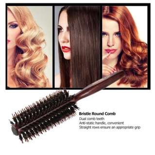 Round Comb Hair Roll Brush DIY Hair Curling Comb