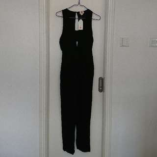 (new)Forever21 black justsuit