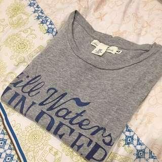 HnM Grey Whale Tshirt #CAROUSELLXSHOPBACK