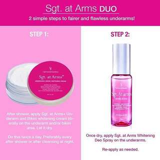 Sgt. At Arms Whitening Deo Spray & Cream Combo