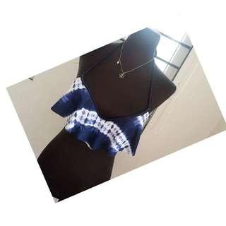 💙Rue Bleu by Rue21 Blue Spandex Bikini Top💙