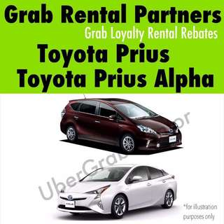 Grab Toyota Prius/Prius Alpha for Rental