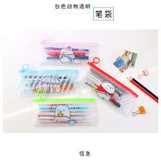 Children's day gift/ present/ Korean Design/ Transparent Pencil Case
