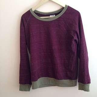 Burgundy Crewneck Sweater