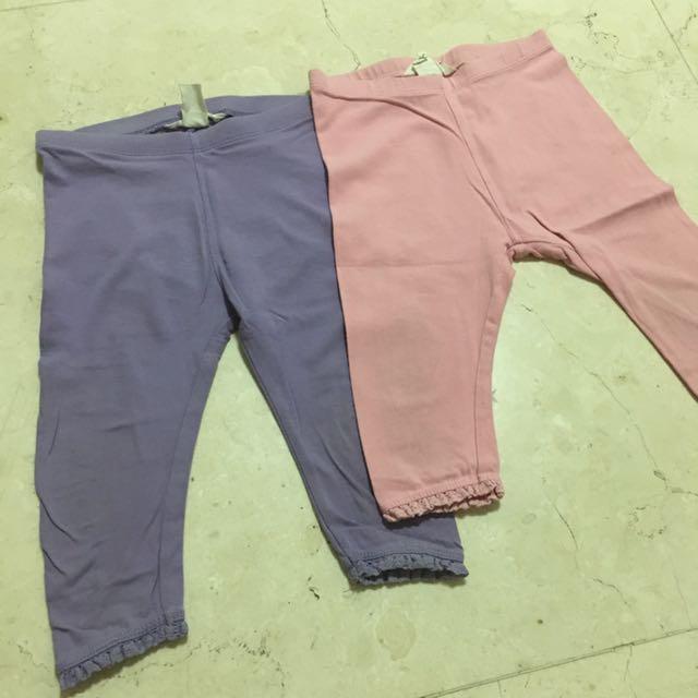 2-pcs 18M - 36M H&M leggings