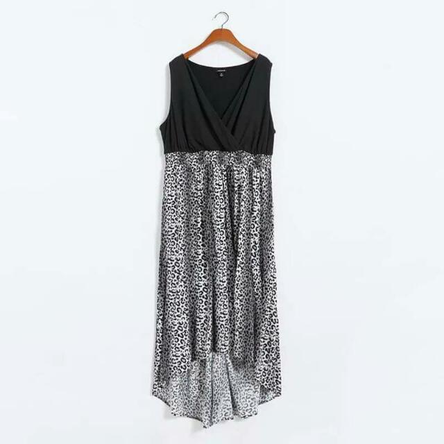 歐美款性感黑白紋洋裝