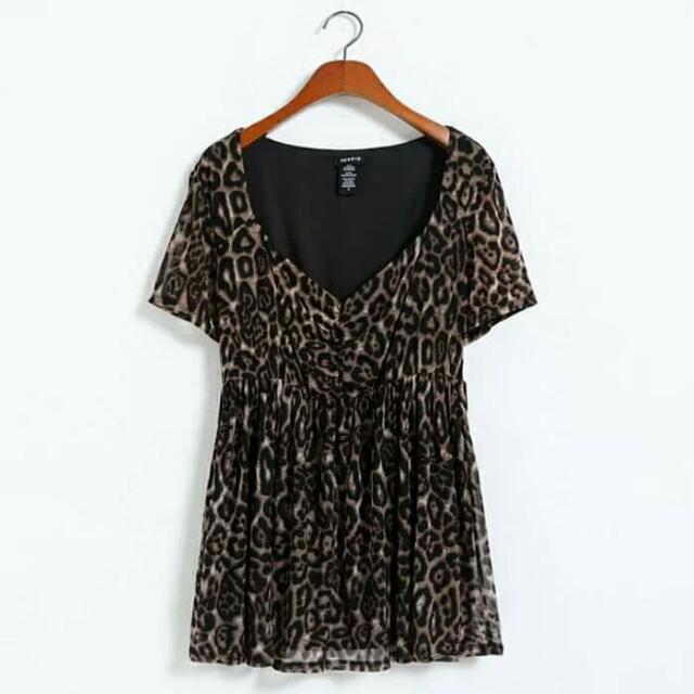 歐美款性感豹紋洋裝