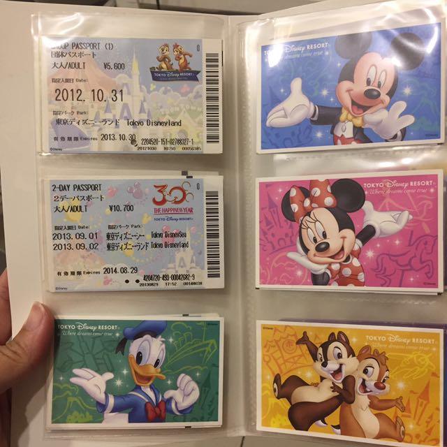 徵迪士尼。門票。紀念車票。電話卡