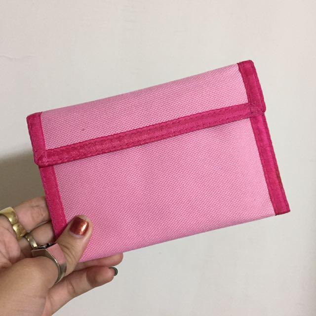 桃紅帆布錢包