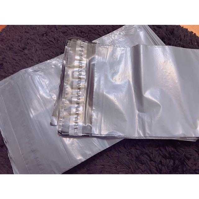 灰色破壞袋 17x30cm 100個 快遞袋 包裝袋 網拍包裝