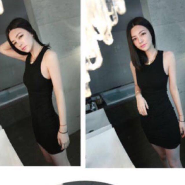 露背黑色 洋裝 #女裝九九出清