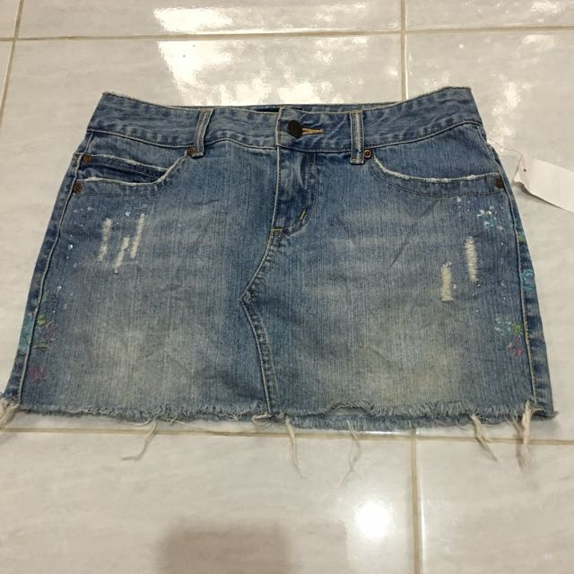Aeropostale Ebroide Denim Skirt