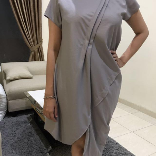 Asymetrical Grey Dress
