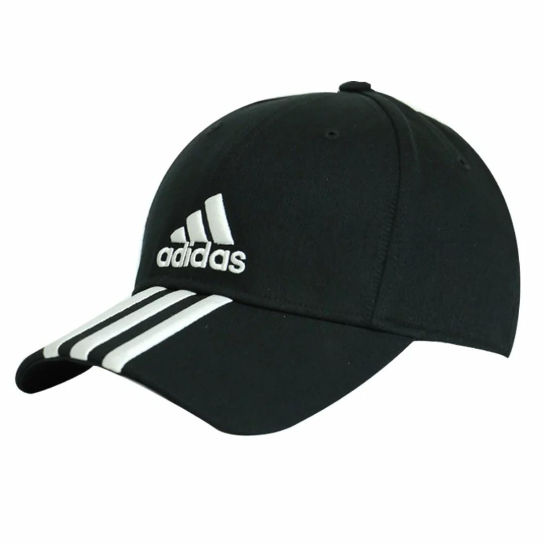 Authentic  adidas Black Performance 3-Stripes Stripe Hat Baseball Cap (w.  Adjustable Strap) 0dbc8abc588
