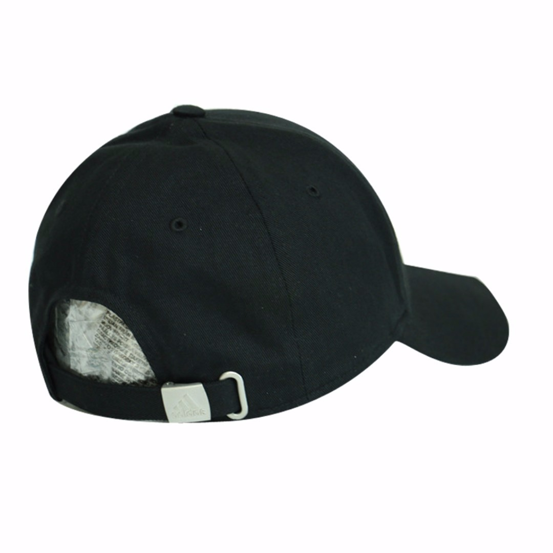 21f024661c7  Authentic  adidas Black Performance 3-Stripes Stripe Hat Baseball Cap (w.  Adjustable Strap)