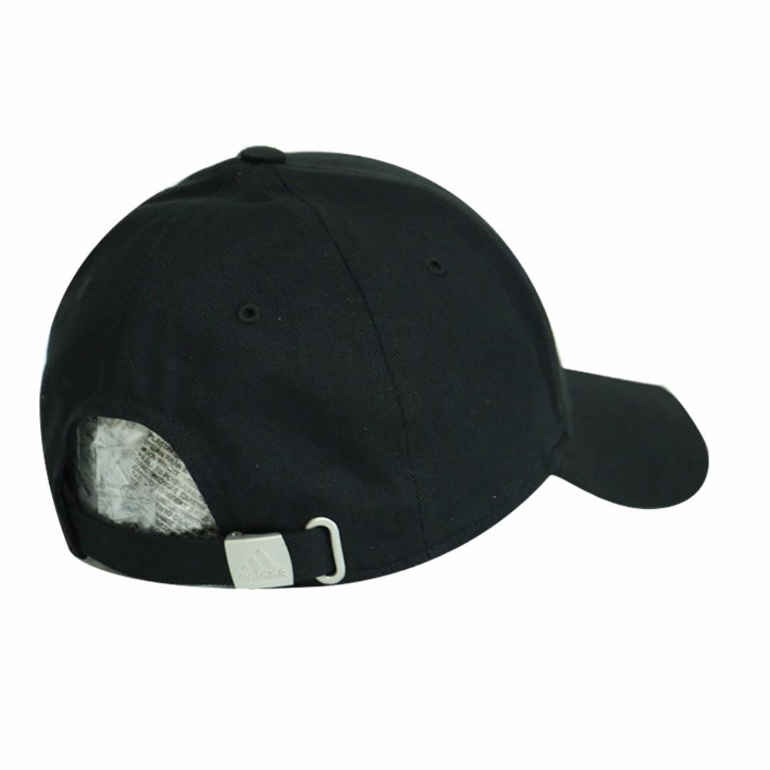 a1f248173f5  Authentic  adidas Black Performance 3-Stripes Stripe Hat Baseball Cap (w.  Adjustable Strap)