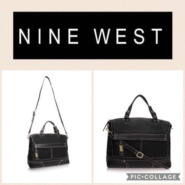 Authentic--NINE WEST Zipsatch-Black