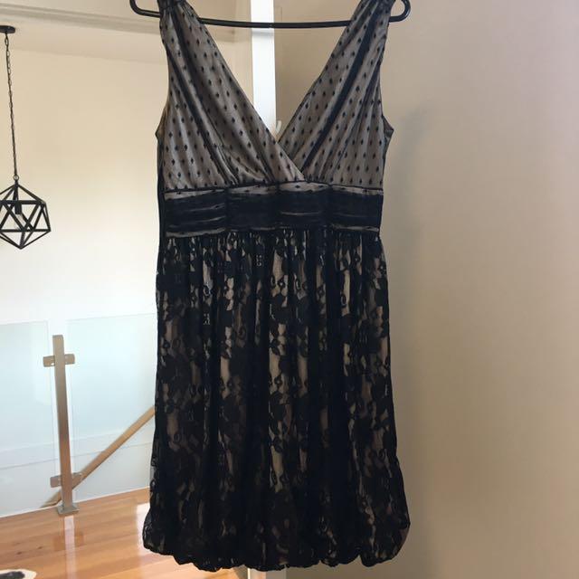 Black lace dress, UK design- Mina (UK 10)
