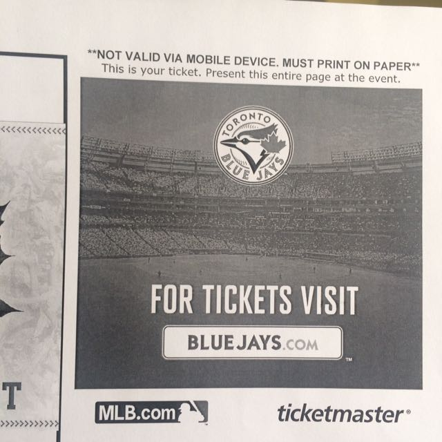 Blue jays tickets for low