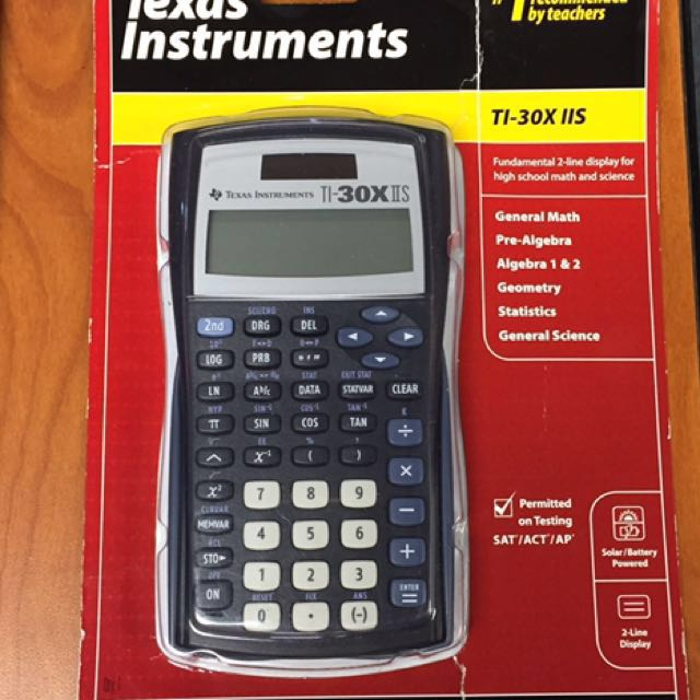 Bnew Orig Texas Instruments Ti 30x Iis Scientific Calculator