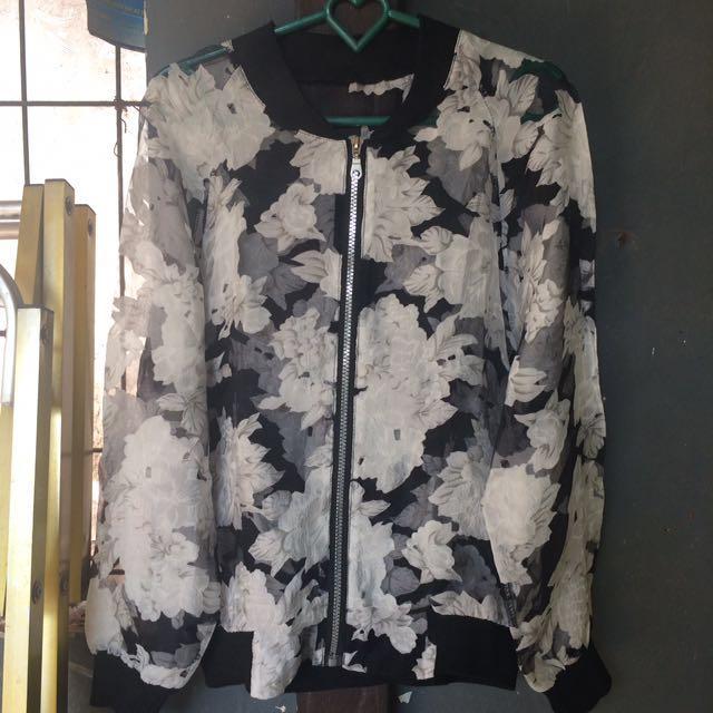bomber floral jacket