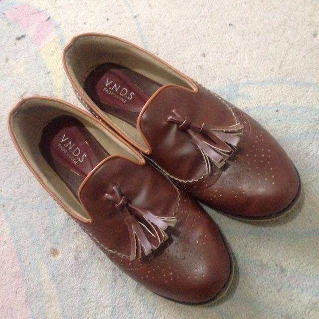Brown Tassel Loafers
