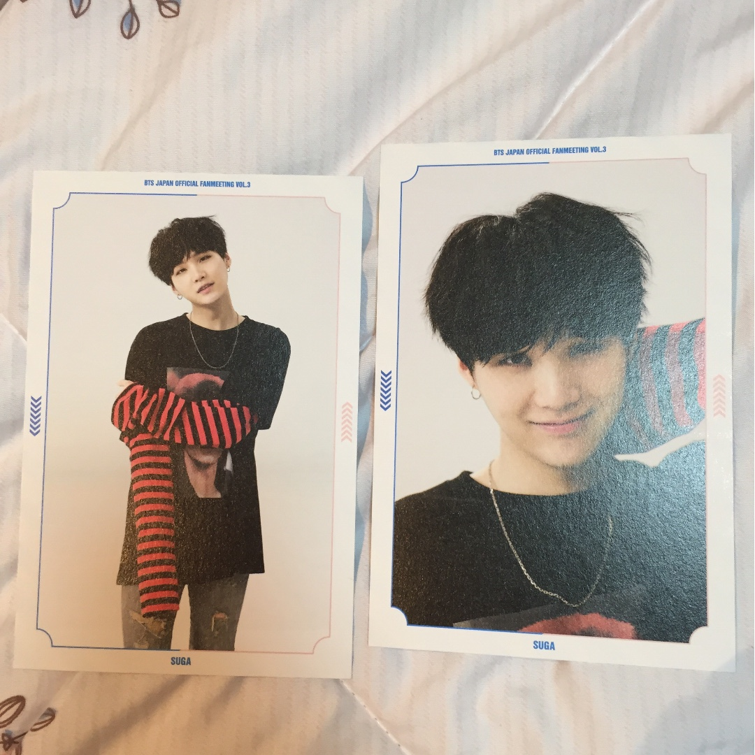 BTS Suga 3rd Japan fan meet postcards