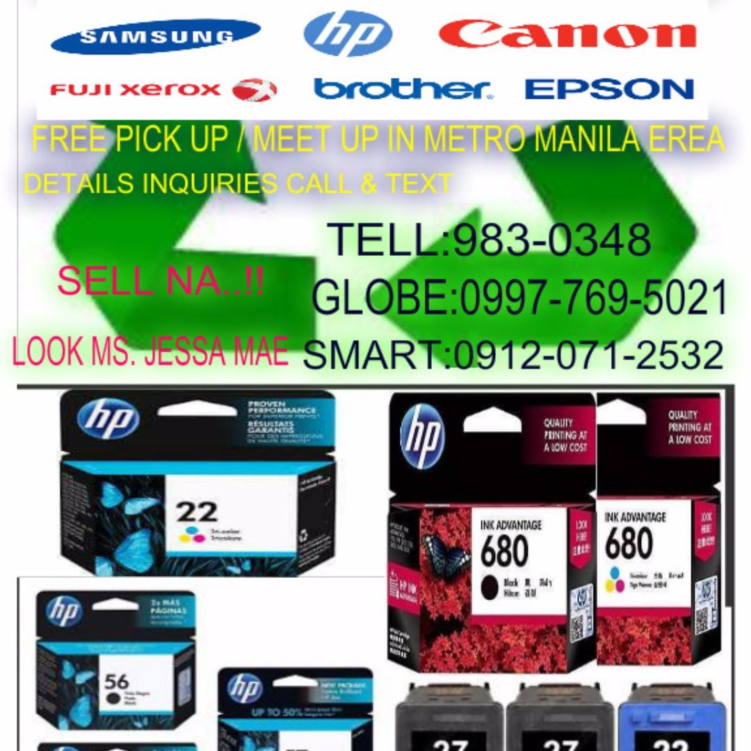 buyer of empty ink toner used expired cartridges