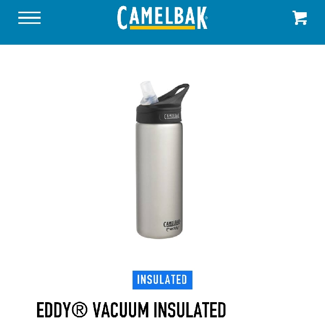 c4cb10d4e5 Camelbak EDDY® VACUUM INSULATED STAINLESS 20 OZ - Stainless Steel ...