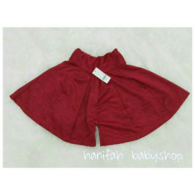 Celana Kulot Anak Polos Warna Merah Marun Babies Kids Girls