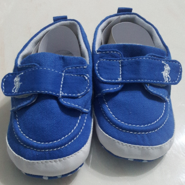 CLEARANCE NEW POLO INSPIRED BLUE BABY SHOES