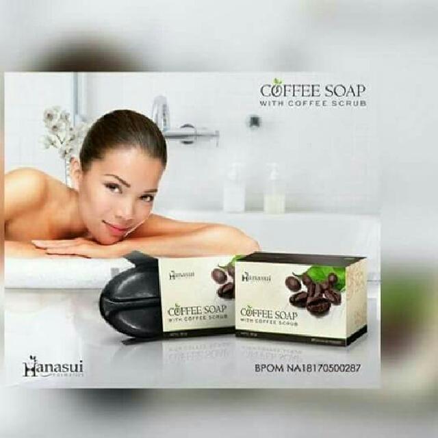 COFFEE SOAP HANASUI / SABUN KOPI DGN SCRUB BPOM Idr: 20.000 Baru lagi dari Hanasui Cosmetics  Hanasui Coffee Soap with Coffee Scrub