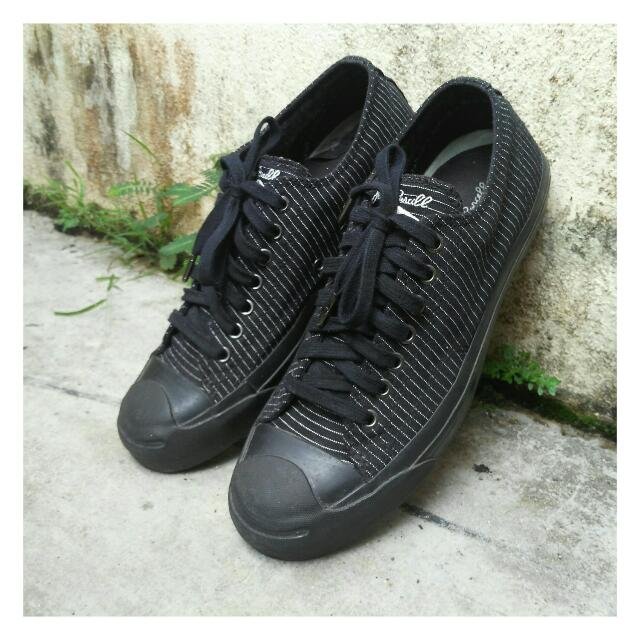 fa904c47147c Converse Jack Purcell All Black With Stripe