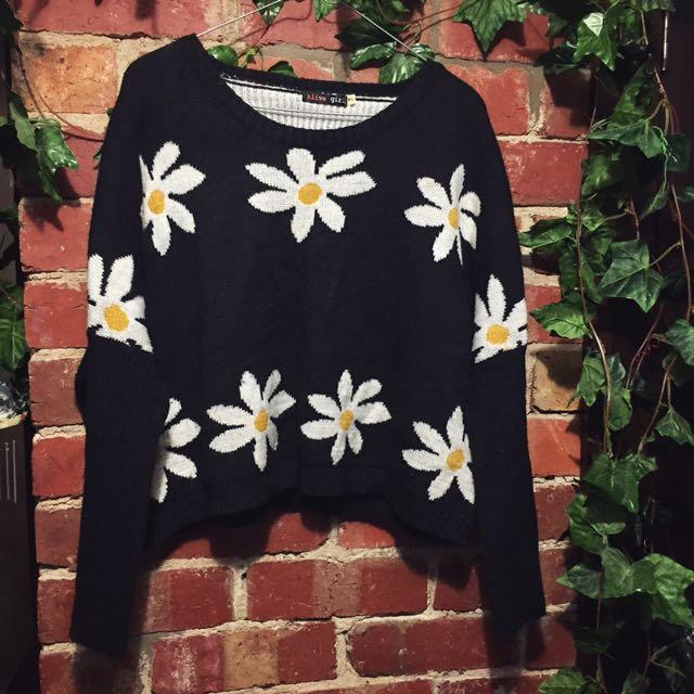 Daisy knit jumper