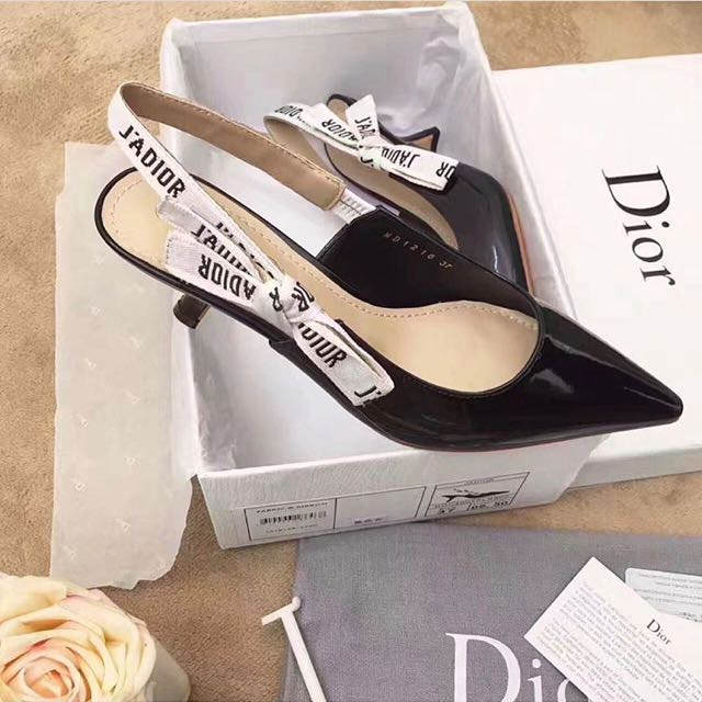 Dior Sling Back Kitten Heels