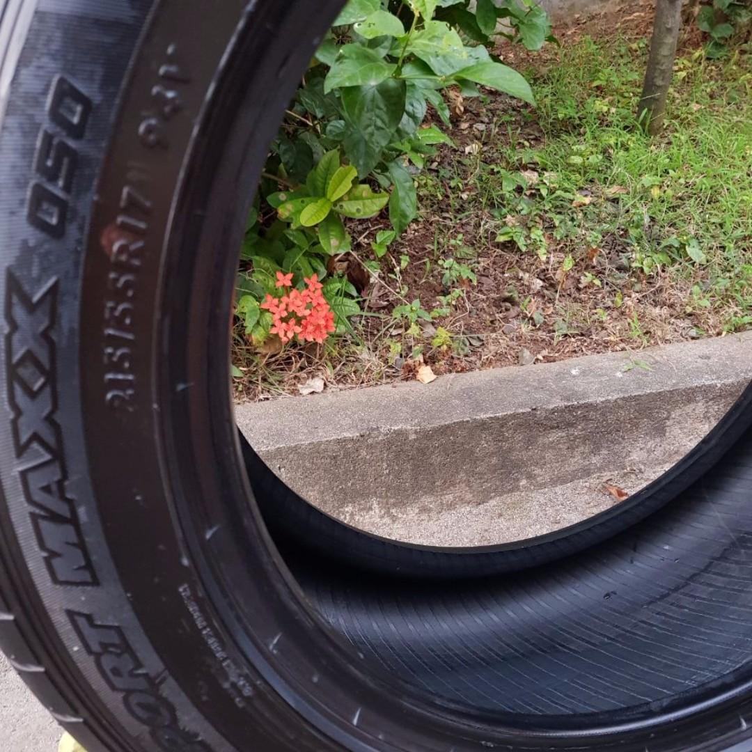 Dunlop SP Sportmaxx 050 215/55 R17 Ban mobil Honda CRV HRV XTRAIL #prelovedkusayang