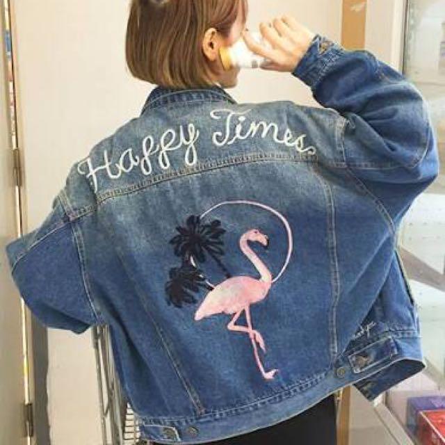 Embroidered denim jacket