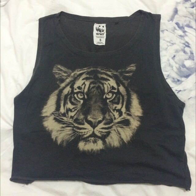 Factorie Tiger Tank Crop Top Size S