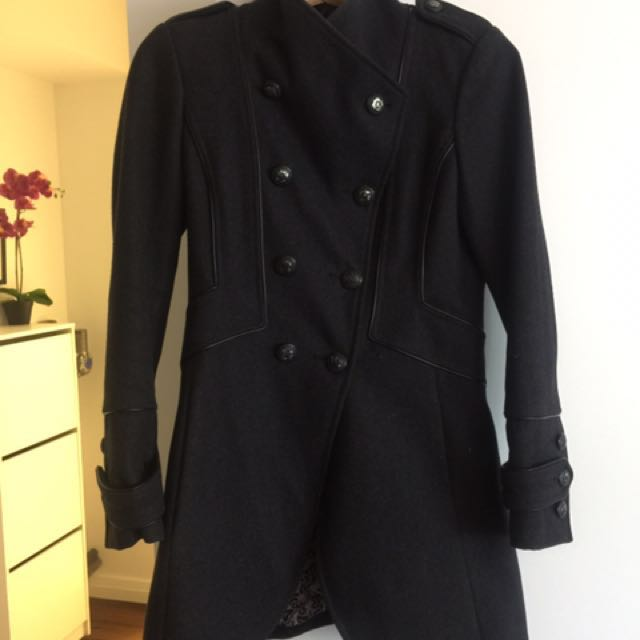 Fall coat charcoal wool coat from guess size small