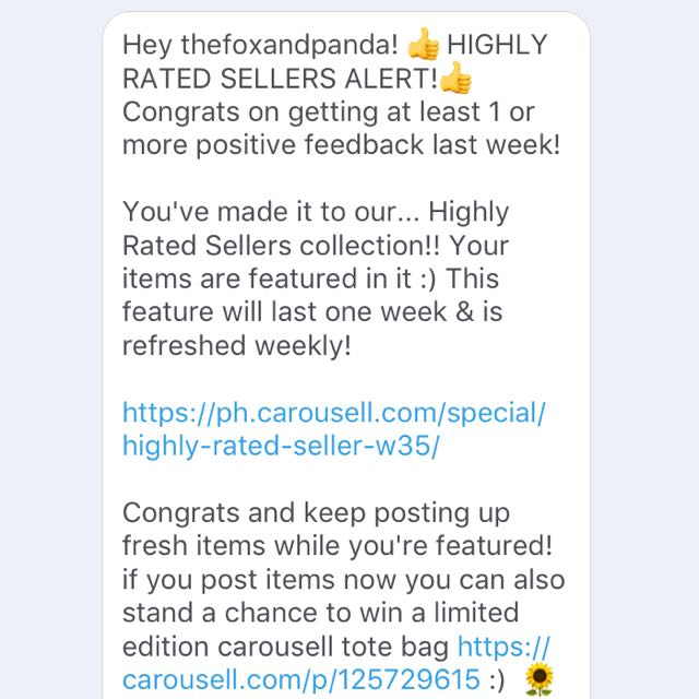 Fifth Time of Being A Highly Rate Seller ⭐️