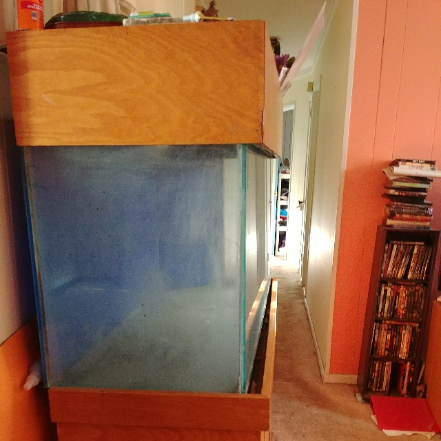 Fish tank 110gal tank with filter and custom cabinet