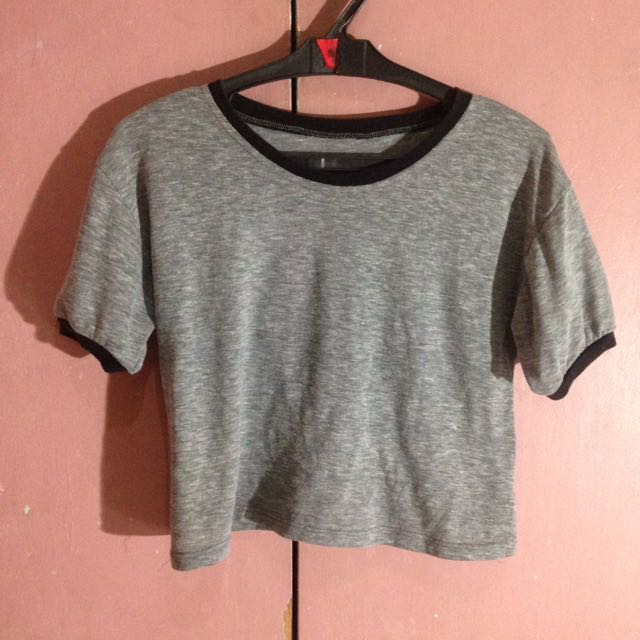 Gray ringer top