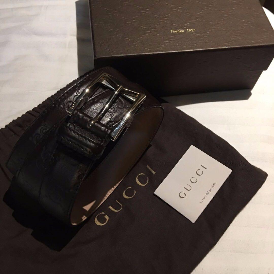 07d3c12d35a Gucci Men s Embossed Leather Belt